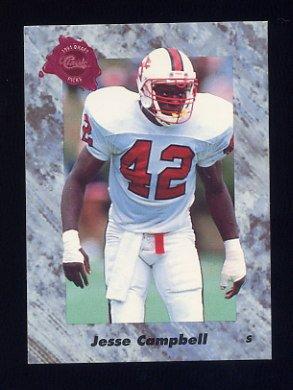 1991 Classic Four Sport Football #144 Jesse Campbell - Philadelphia Eagles
