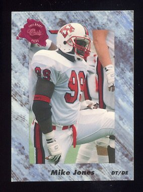 1991 Classic Four Sport Football #128 Mike Jones - Phoenix Cardinals