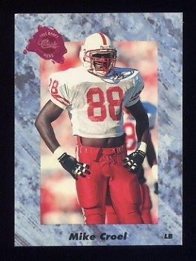 1991 Classic Four Sport Football #106 Mike Croel - Denver Broncos