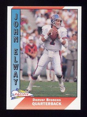 1991 Pacific Football #115 John Elway - Denver Broncos