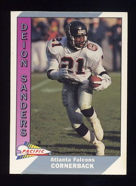 1991 Pacific Football #001 Deion Sanders - Atlanta Falcons