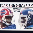 1991 Pinnacle Football #354 Head to Head Thurman Thomas / Lawrence Taylor