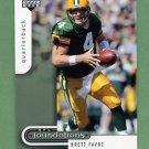 2005 Upper Deck Foundations Football #033 Brett Favre - Green Bay Packers