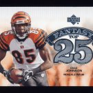 2006 Upper Deck Football Fantasy Top 25 Insert #F25CJ Chad Johnson - Cincinnati Bengals
