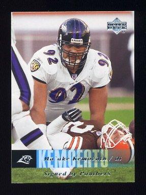 2006 Upper Deck Football #030 Ma'ake Kemoeatu - Carolina Panthers