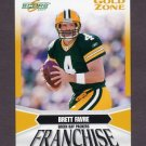2007 Score Football Franchise Gold Zone #04 Brett Favre - Green Bay Packers /600