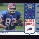 2002 UD Authentics Glory Bound Game-Used Jersey #GBJJR Josh Reed - Buffalo Bills