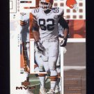 2002 Upper Deck MVP Football #058 Ricky Dudley - Cleveland Browns