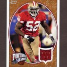 2008 Upper Deck Heroes Jerseys Bronze Game-Used Jersey #074 Patrick Willis - San Francisco 49ers /75