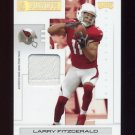2007 Playoff NFL Playoffs Materials Gold Prime #02 Larry Fitzgerald - Cardinals Game-Worn Pants /10
