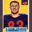 1956 Topps Football #083 Bill McColl - Chicago Bears