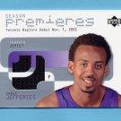 2002-03 Upper Deck Season Premier Jerseys #JEP Chris Jefferies - Toronto Raptors Game-Used Jersey