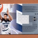 2002-03 Upper Deck UD Game Jerseys 2 #GJWS Wally Szczerbiak- Timberwolves Game-Used Jersey