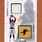 2000-01 SP Game Floor Authentic Fabric / Floor Combos #MA-C Marc Jackson - Warriors Jersey / Floor
