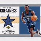 2002-03 UD Authentics Uniform Greatness #TB-U Terrell Brandon - Timberwolves Game-Used Jersey