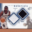 2000-01 SPx Winning Materials #TB1 Terrell Brandon - Timberwolves Game-Used Jersey / Warm-Up