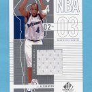 2002-03 SP Game Used Basketball #101 Courtney Alexander - Washington Wizards Game-Used Jersey
