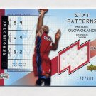 2002-03 UD Authentics Stat Patterns #MO-S Michael Olowokandi - Clippers Game-Used Jersey /500