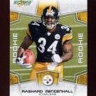 2008 Score Football Card #347 Rashard Mendenhall RC - Pittsburgh Steelers