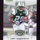 2008 Score Football Card #218 Leon Washington - New York Jets