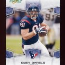 2008 Score Football Card #121 Owen Daniels - Houston Texans
