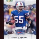 2008 Score Football Card #036 Angelo Crowell - Buffalo Bills