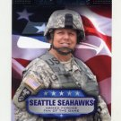 2008 Topps Football Armed Forces Fans Of The Game #AFFTW Traci Williams - Seattle Seahawks