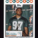 2008 Topps Football #406 Phillip Merling RC - Miami Dolphins
