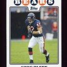 2008 Topps Football #180 Greg Olsen - Chicago Bears