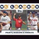 2008 Topps Baseball #327 Jake Peavy / Aaron Harang / John Smoltz