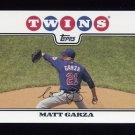 2008 Topps Baseball #161 Matt Garza - Minnesota Twins