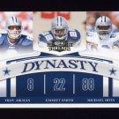 2008 Donruss Threads Dynasty #D-5 Troy Aikman / Emmitt Smith / Michael Irvin - Dallas Cowboys