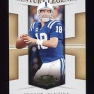 2008 Donruss Threads Century Legends #CL-2 Peyton Manning - Indianapolis Colts