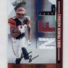 2008 Absolute Memorabilia #263 Jerome Simpson RC - Cincinnati Bengals Triple Game-Used AUTO /299