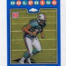 2008 Topps Chrome Blue Refractors #TC222 Jake Long RC - Miami Dolphins