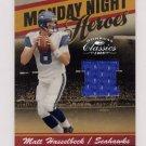 2008 Donruss Classics Monday Night Heroes #MNH20 Matt Hasselbeck - Seahawks Game-Used Jersey /250