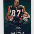 2008 Bowman Sterling Jerseys Green #160 Andre Caldwell RC - 2 Color Game-Used Jersey 149/299