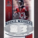 2008 SP Rookie Threads Rookie Numbers Silver 135 #RNHD Harry Douglas Dual Game-Used JSY /135