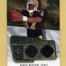 2008 SP Rookie Threads Flashback Fabrics #FF-RM Robert Meachem Dual Game-Used Jerseys /85