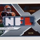 2008 SPx Rookie Materials NFL Letters Triple Patch #RM-AC Andre Caldwell Triple Game-Used Patch /15