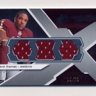 2008 SPx Rookie Materials Logo X Logo Triple #RM-DT Devin Thomas Triple Game-Used JSY /75