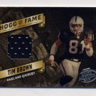 2003 Playoff Hogg Heaven Hogg Of Fame Materials Silver #HF07 Tim Brown Game-Used Jersey /75