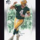 2003 SP Authentic Football #004 Brett Favre - Green Bay Packers