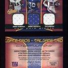 2004 Fleer Authentix Tailgate Trios #TSB Amani Toomer / Jeremy Shockey / Tiki Barber / Game-Used /75