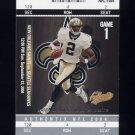 2004 Fleer Authentix Football #028 Aaron Brooks - New Orleans Saints
