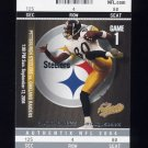 2004 Fleer Authentix Football #013 Plaxico Burress - Pittsburgh Steelers