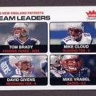 2004 Fleer Tradition Football #003 Tom Brady / Mike Vrabel - New England Patriots TL