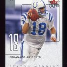 2004 Ultra Football Ultra Performers #11UP Peyton Manning - Indianapolis Colts