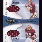 2001 Playoff Honors Rookie Tandem Jerseys #RT05 Sage Rosenfels / Rod Gardner -  Game-Used Jersey