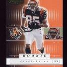 2001 Playoff Preferred Football #133 Chad Johnson RC - Cincinnati Bengals 0145/1100